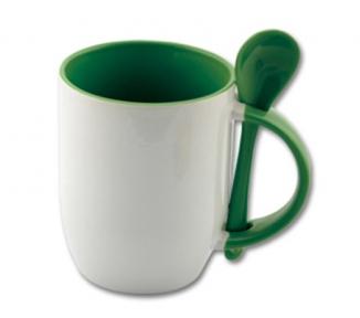 Бело-темно-зеленый