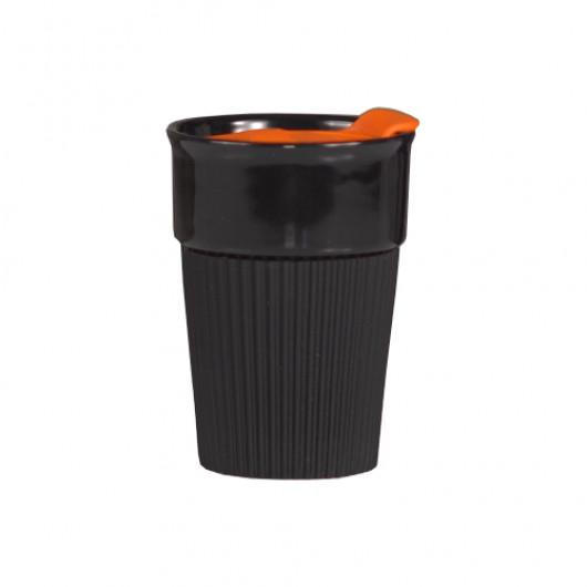 Черно-оранжевый
